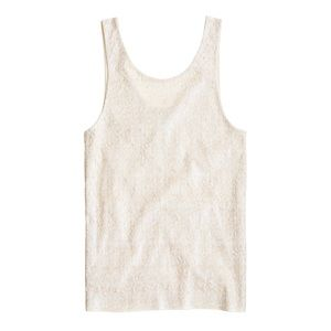M J Crew heathered sequin tank in champagne